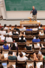 Photo: Unidentified professor teaching large class