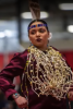 Photo: Woman in Native American costume