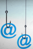 Graphic: @ symbol on fish hook