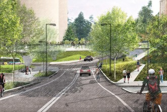 Graphic: Proposed footbridge over N. Charter St.
