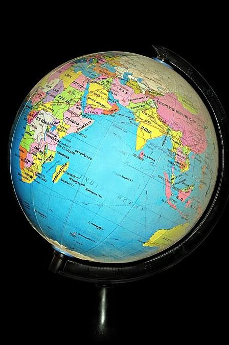 Photo: World globe