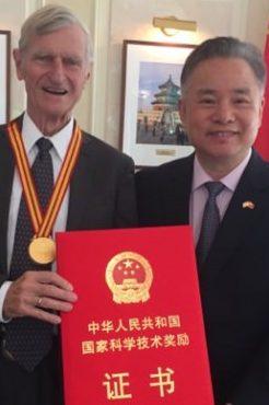 Photo: John Kutzbach receiving award