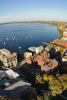Photo: Aerial view of campus and Lake Mendota