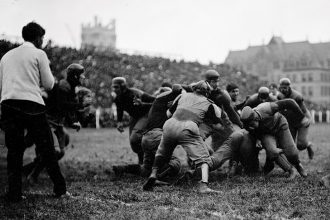Photo: Football game in early 1900s