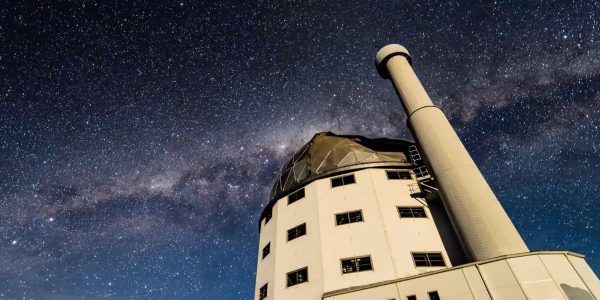 The Southern African Large Telescope under a starry sky.